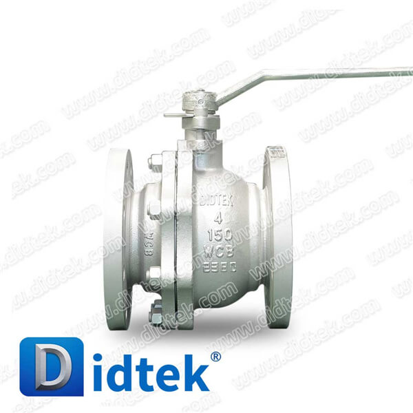 Didtek 100% Test Lever Operated WCB Casting Steel 6 Inch Class 150 Floating Ball Valve