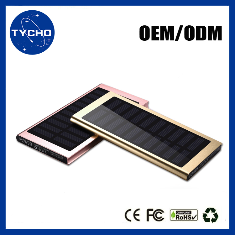 Led Light 20000mAh Power Bank OEM/ODM Solar Power Bank Lithium Battery Solar