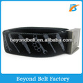 Printed Logo Cotton Fabric Waist Belt with Zinc Alloy Buckle