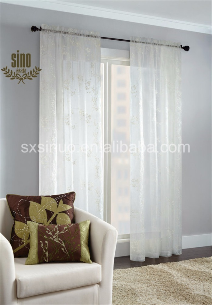 Wholesale high quality voile sheer curtain
