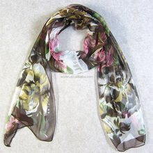 Sheer Silk Jorjet Gauze Scarf Head Wrap