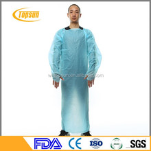 Polyethylene Thumb Loop Style Isolation Gowns, Latex Free, Extra Large, Blue