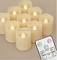2017 NEWEST!!Flameless LED remote Tea Light Candles, Battery Powered, re or nonchargeable Tealight Candle (Pack of 6,9,12 )