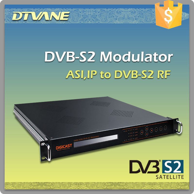 RF modulator TV headend system QPSK Modulator satellite with DVB-S standard ASI input RF L-band IF C-band modulator