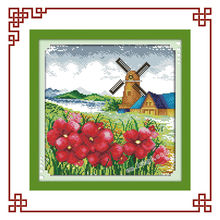 NKF Korean view Spring cross stitch schemes