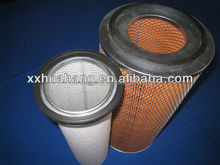 Yellow cylindric folded air filter element for AF25312 air filter