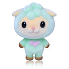 Cute plastic flock sheep plastic plush toys creative children's educational toys