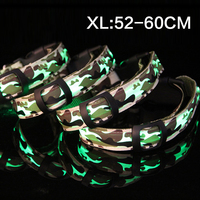 Pet collar collar collar LED light cool luminous cloth camouflage a factory direct XL