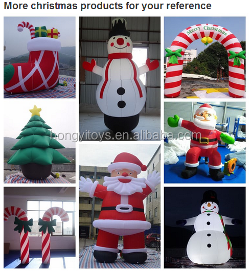 Inflatable Hanging Snowman Painted Christams Balls , Inflatable Christmas Ornaments Ball For Sale
