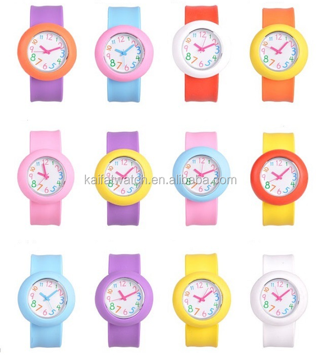 Chinese factory wholesale hottest cheap beatiful design quartz silicone slap children watches
