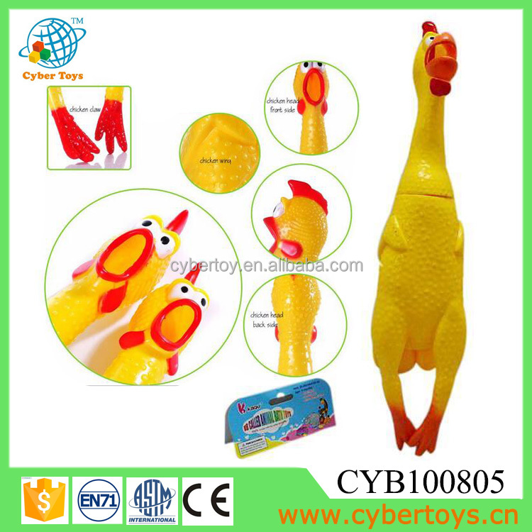 Promotional shrilling screaming chicken squeaky chicken toy CYB100805