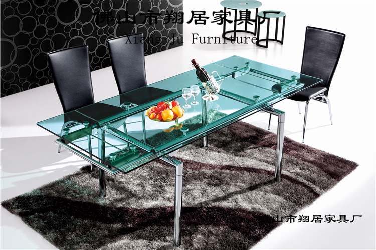 Multifunctional tempered glass dining table