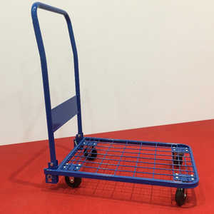 The 4-wheel cheap foldable platform hand truck with mesh PH1550