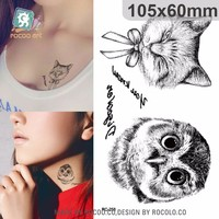 RC258/2015 wholesale temporary tattoo-owl sticker
