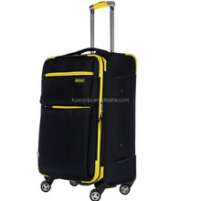 "Black 19"" 23"" 27"" Lightweight Trolley Suit Case Travel Bag rolling Luggage"