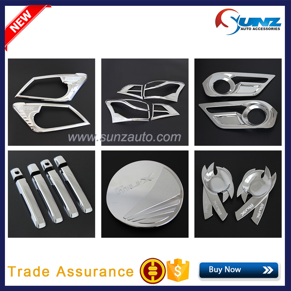 MUX Accessories ABS Full Set Chrome Kits For MUX 2014 Chromed Set for ISUZU2015 Accessories