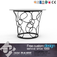 European style design home furniture classic glass dining table and chair