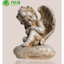 manufacture supplier resin crafts small baby angel figurines