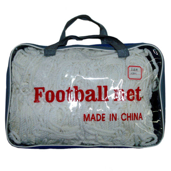 yiwu futian market wholesale price polypropylene soccer rebounder net wholesale football net for sale, design your logo