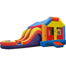 Factory direct wholesale Inflatable adults size kids used jumping trampoline air bouncer house with water slide combo for sale