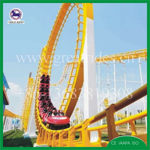 China top roller coaster manufacturer 4 loops and 6 loops roller coaster for sale