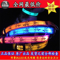 Cute Cartoon Dog LED Nylon Pet Dog Cat Collar Night Safety LED Light-up Flashing Glow in the Dark Lighted Dog Collars