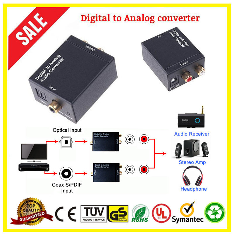 Best Digital Optical Coax Coaxial Toslink to Analog RCA L/R hdmi audio converter digital to analog
