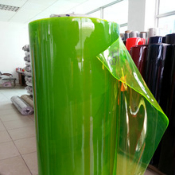 Clear transparent plastic pvc film