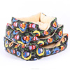 Wholesale Luxury Fleece Printed Soft Pet Dog Beds