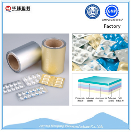 pharmaceutical pa / al / pvc perfect medicine capsules blister packaging