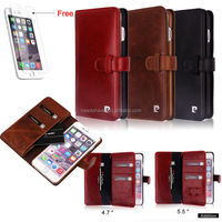 Pierre Cardin Genuine Leather Card Holder Wallet Case Cover For iPhone 6 / Plus