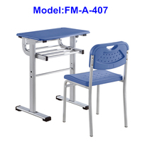 school plastic chair and desk for students