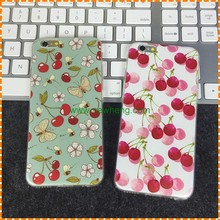 Soft clear transparent TPU custom printed phone cases for iphone 7 8 watermelon