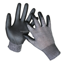 PU leather safety glove for factory, hot selling cheap protective glove cut resistant,safety gloves