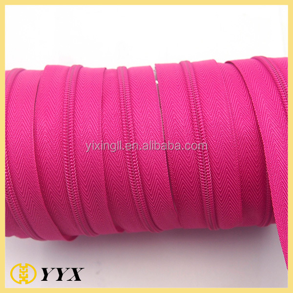 high quality nylon zipper long chain nylon zipper beach bags nylon zipper