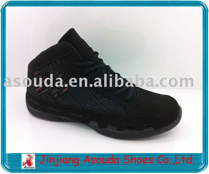 black basketball shoes
