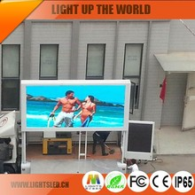 2016 trending products P8 P10 full Color Outdoor double side trailer led display advertising 3G /WIFI funny video China