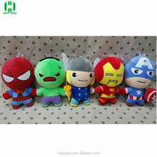 Thor and spiderman plush toys cute cartoon plush stuffed toys