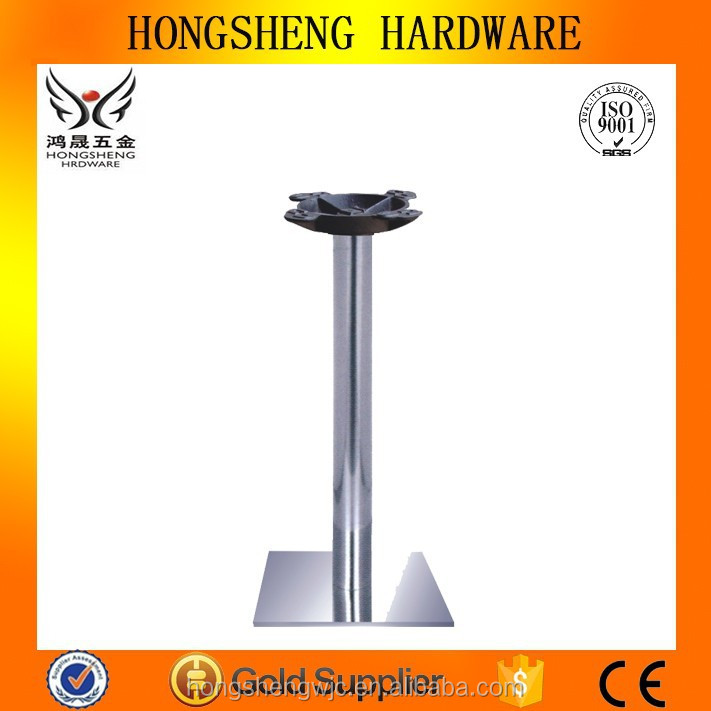 HS-<strong>A061</strong> square dining table stainless steel furniture base for marble table legs for table