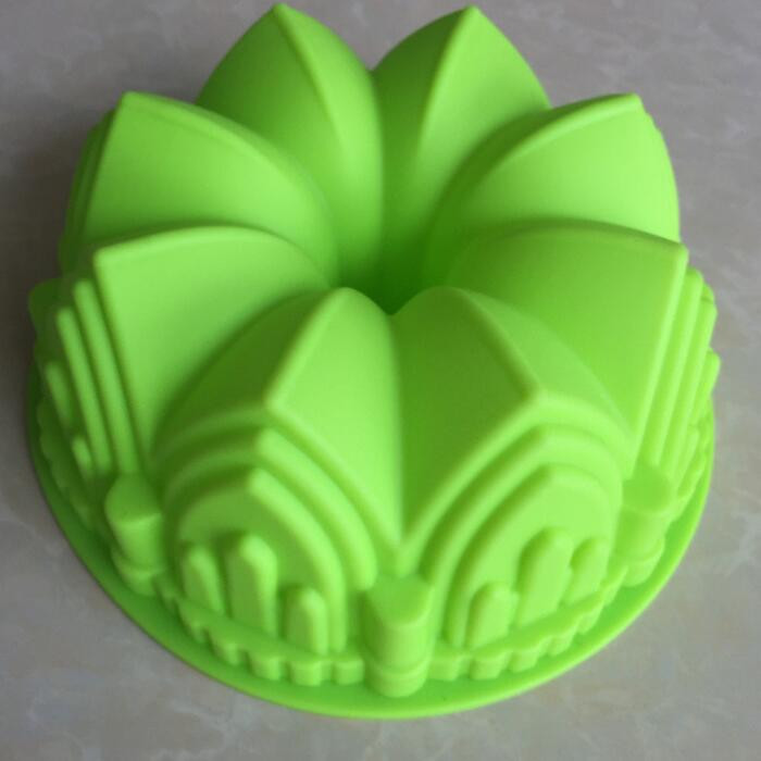 Food grade Castle crown cake big size cake Home baking DIY cake silicon mould