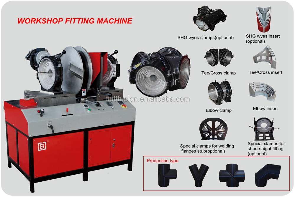 "SHG12""/3"" PE fitting welding machine for inch pipe"