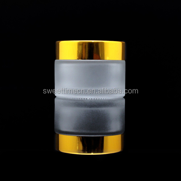 factory price 50g frosted glass jar with lid cream jar