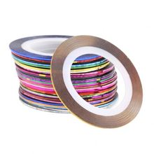 30 Pcs Mixed Colors Rolls Striping Tape Line Sticker For Nail Art Tips Decoration Nail Sticker Nail Polish Sticker