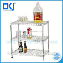 Approved Chrome Wire Mesh Display Metal Dish Shelving Rack