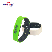 ISO14443A Hot sale RFID Wristband adjustable NTAG213 Silicone NFC wristband 13.56MHz