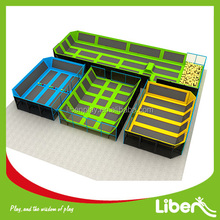As your selection Size indoor trampoline Free jumping Zone section with basket hoop jumping