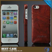 good quality leather back cover soft skin case for iPhone 5