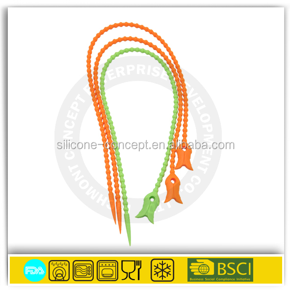 high quality silicone rubber cord rope Perfect colored silicone strings for chicken fish
