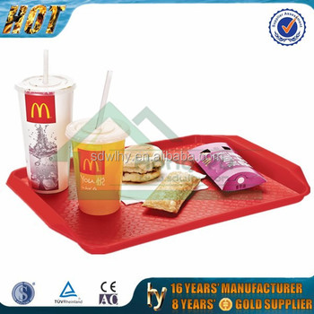 Good quality plastic fast food tray for hotel and restaurant