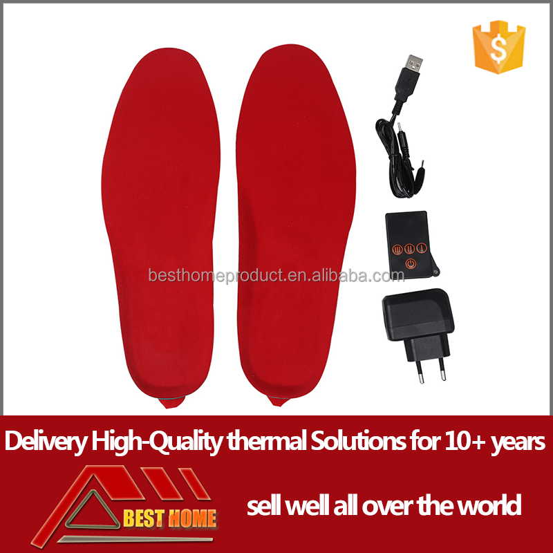 Remote Control Electric Li-Polimer Battery Heating Shoe thermal Insoles for Shoes